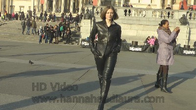 Jenny-walking-in-leather-pants-and-leather-boots