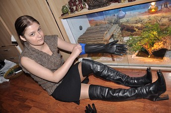 wide range premium selection attractive price Girl in leather gloves smoking help gallery